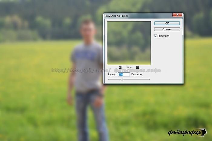 Как сделать фон у фотографии размытыми