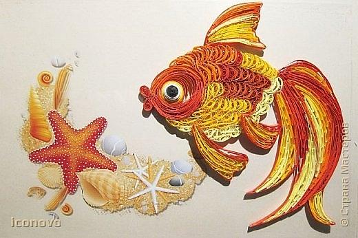 Делаем объемную золотую рыбку в технике квиллинг