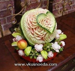 карвинг арбуз сердце Праздничное меню на любой вкус