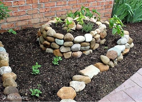 Как с камней сделать клумбы