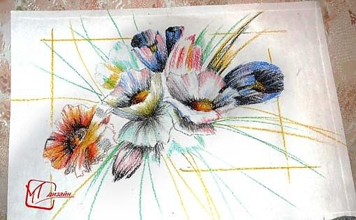 Что рисуют восковыми карандашами