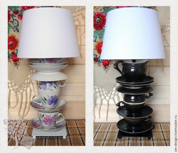 Интересные настольные лампы своими руками