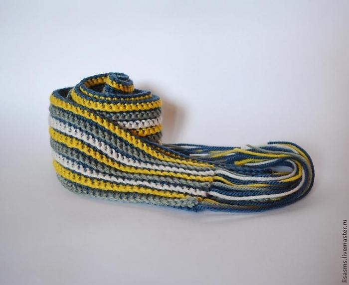 Как связать шарф спицами (для начинающих детский шарф)