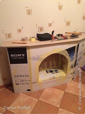 Как сделать телевизор из под коробки 593