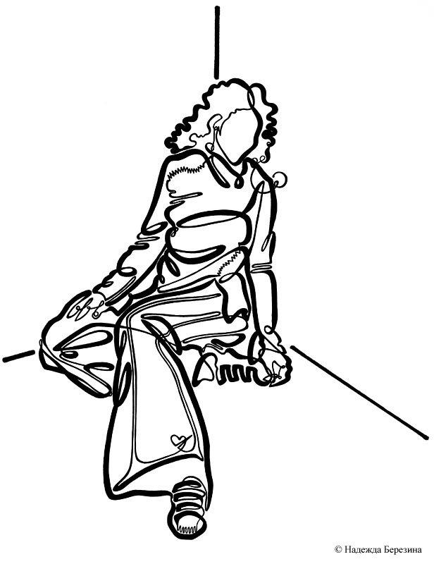 Рисунки одной непрерывной линией 51