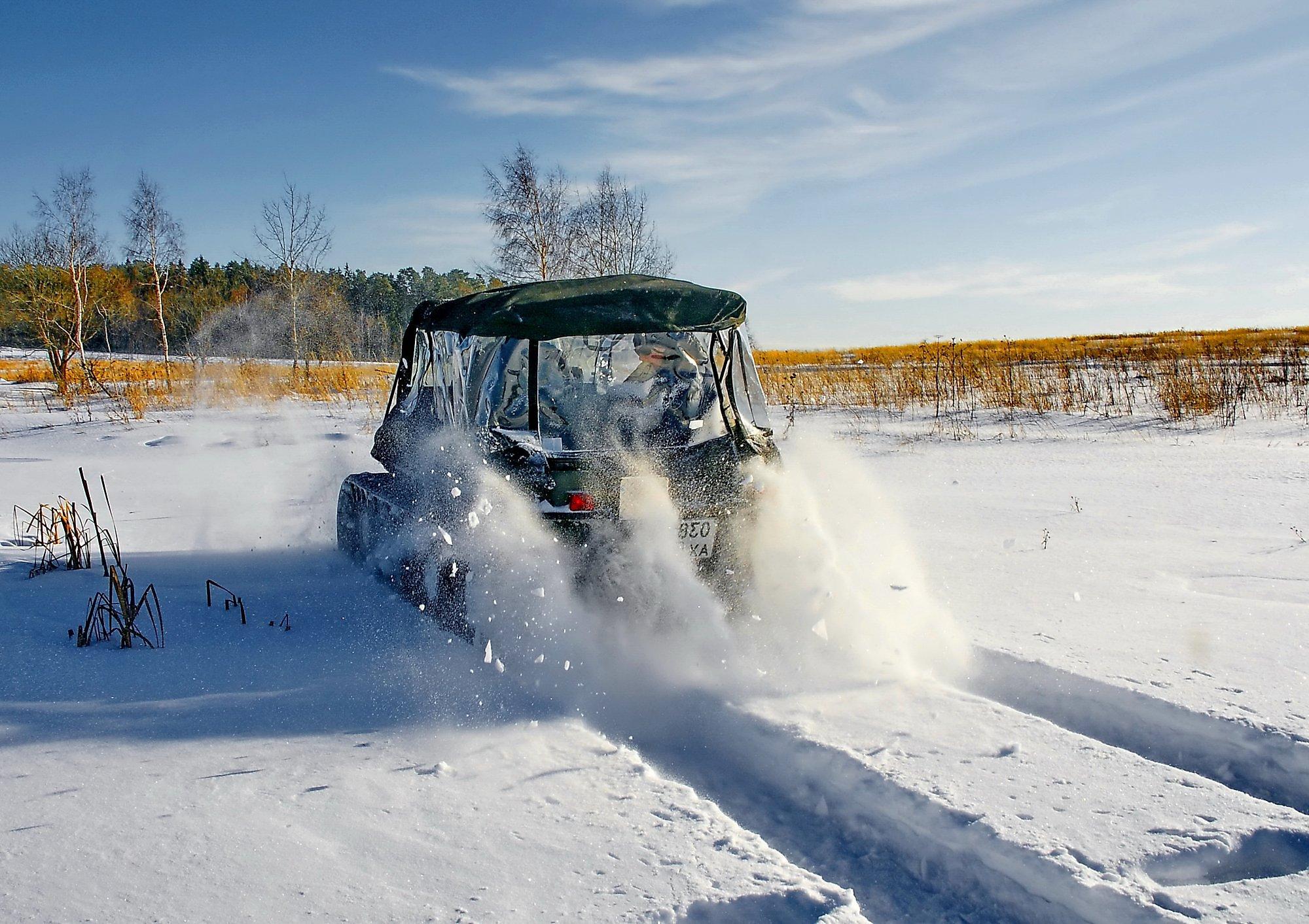 Вездеход своими руками по снегу