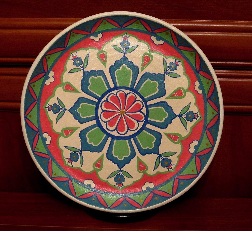 Узор на тарелках фото
