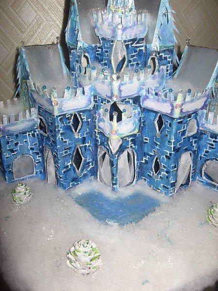 Замок Снежной Королевы из бумаги своими руками для детей 5-7 лет