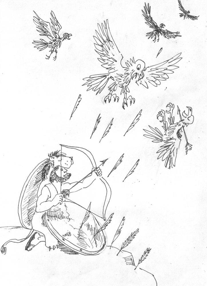 картинки стимфалийские птицы