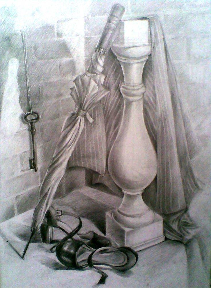 натюрморт фото карандашом: