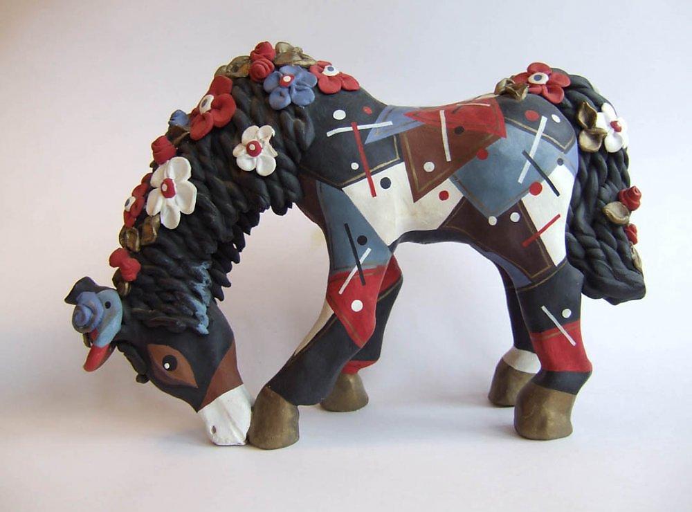 Лошадка из глины своими руками 17