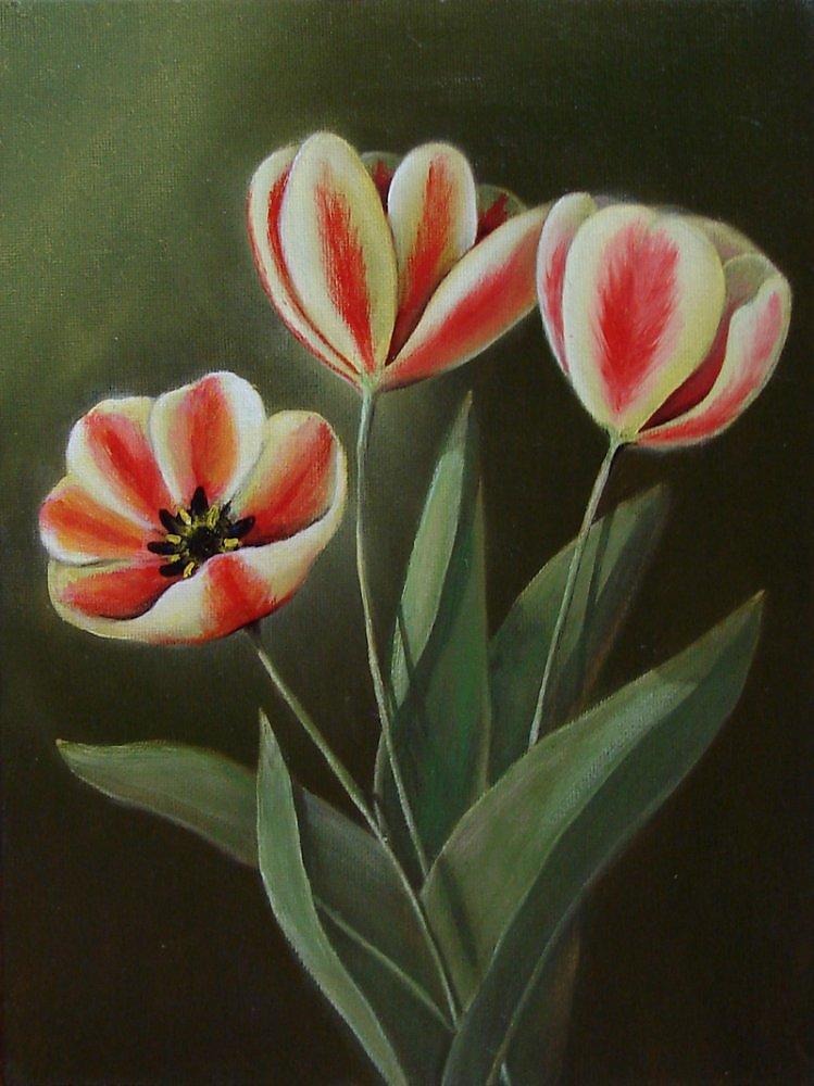 """Авторская живопись.  """"тюльпаны.  Реализм."""