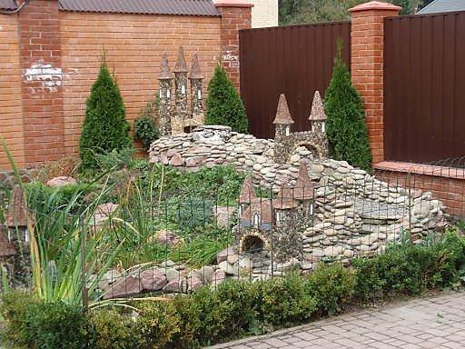 Как сделать замок из камней для сада своими руками