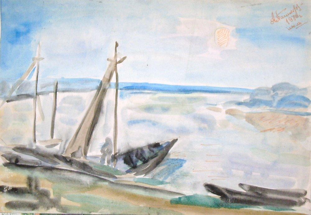 рисуем лодку видео