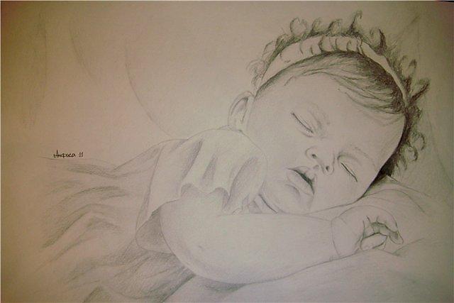 Как нарисовать куклу реборн карандашом