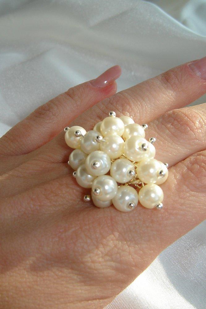Кольцо с жемчужиной своими руками 97