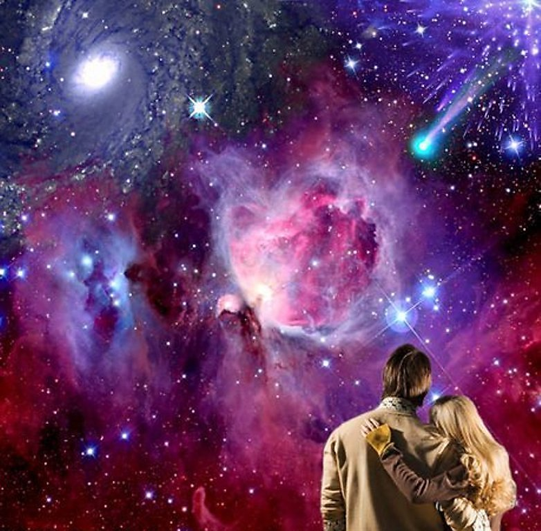 Clouds, outer space, stars, futuristic, planets, atmosphere, buildings, spaceships, science fiction, vehicles, moons