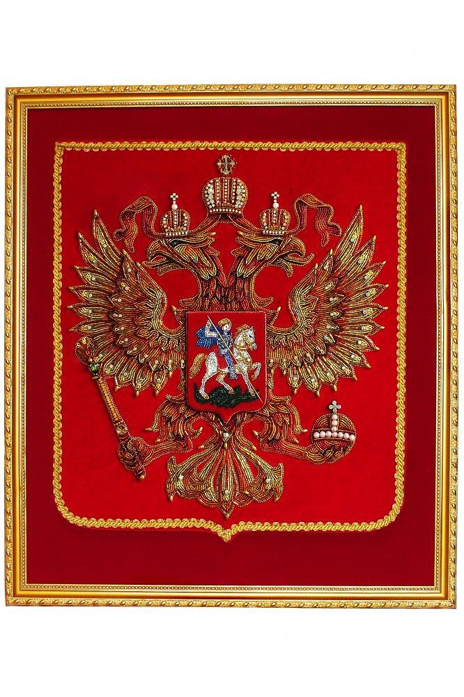 Вышивка герб россии бисером