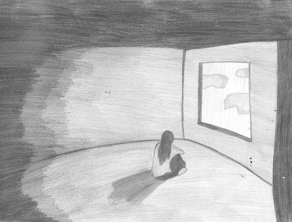 Одиночество нарисовано карандашом