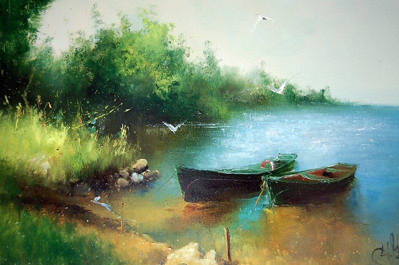 левитан лодки у берега