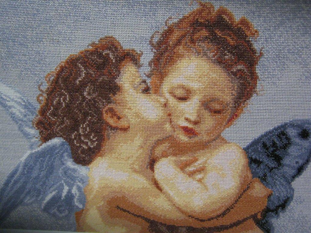 Вышивка поцелуй мамы 70