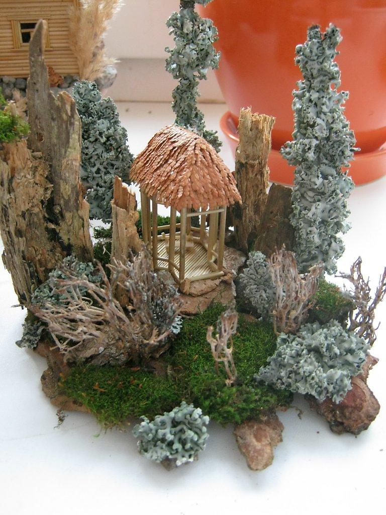 Поделки из лесного мха 11
