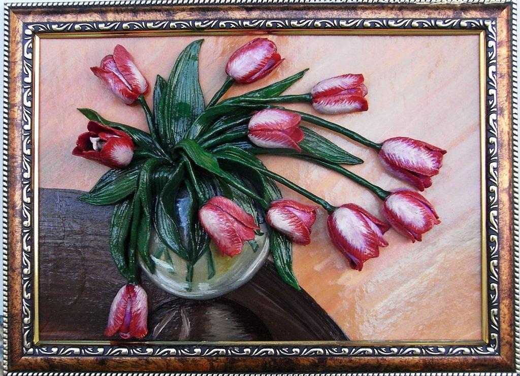 Тюльпаны из соленого теста своими руками пошаговая инструкция 40