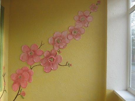 Барельеф на стене цветок своими руками 3