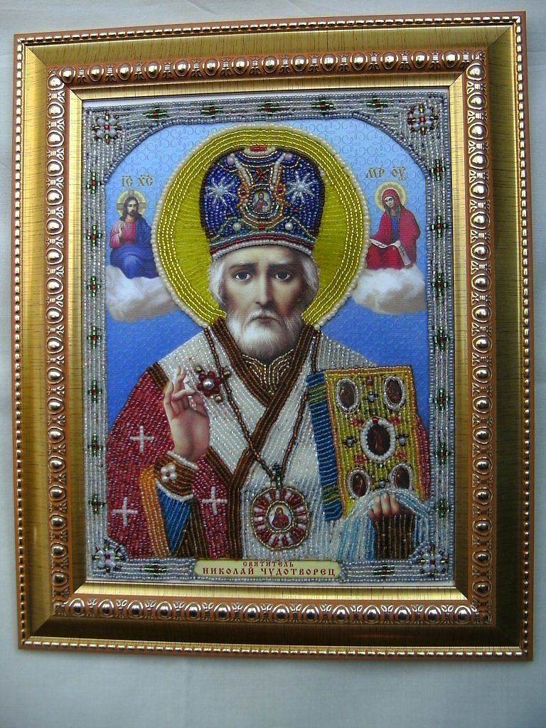 Фото: Продам картины,иконы, вышитые бисером.  Ручные изделия, товары для творчества, Украина, АР Крым.