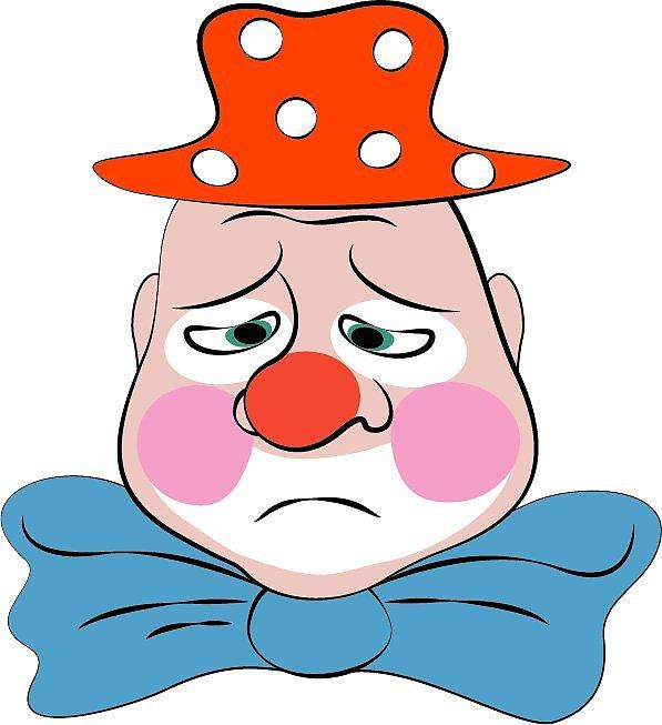рисунок клоуны веселые и грустные