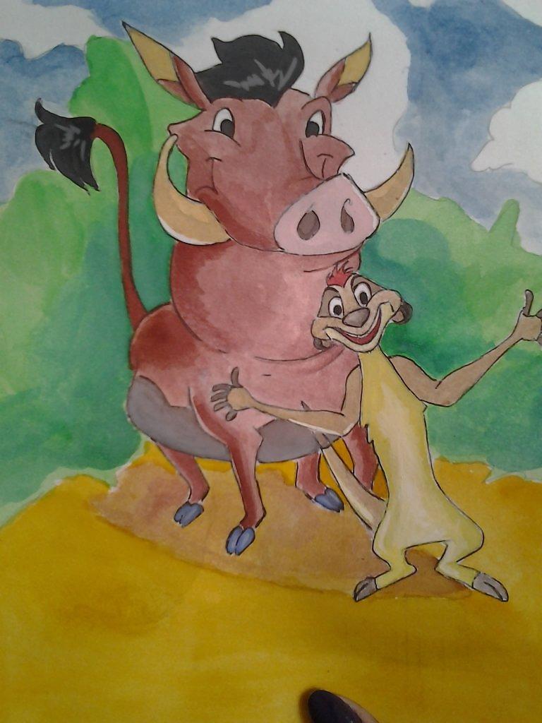 С кого рисовали тимона и пумбу