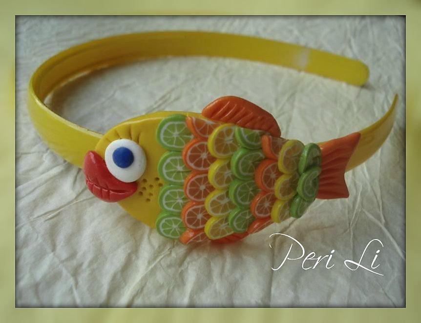 Рыбка на голову своими руками 55