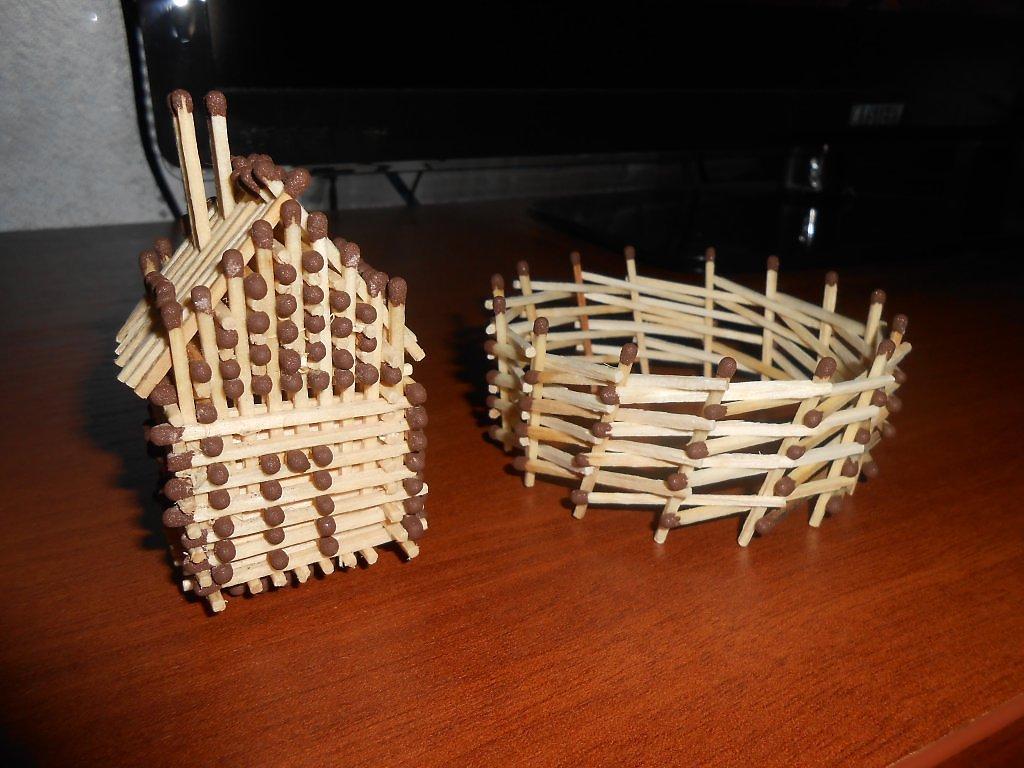 Как своими руками сделать домик из спичек 16