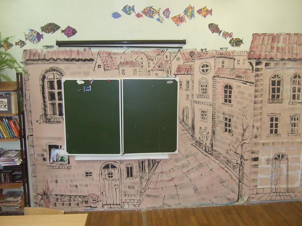 Роспись стен своими руками для кабинета изо