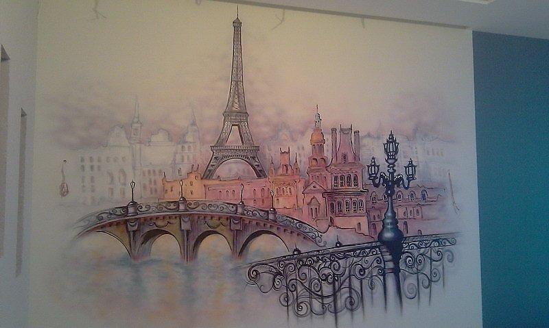 Роспись стен париж