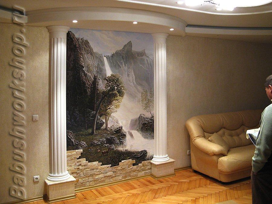 Декоративная отделка стен в квартире своими руками 90