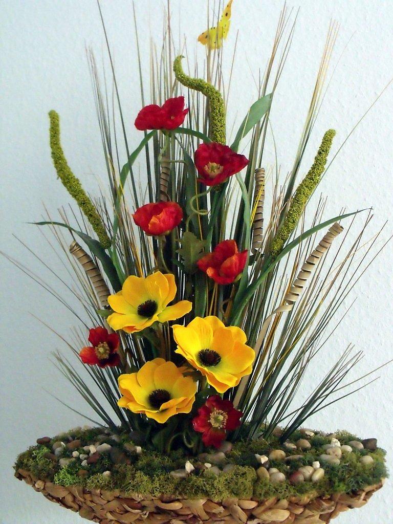 Составить композицию из искусственных цветов своими руками 81
