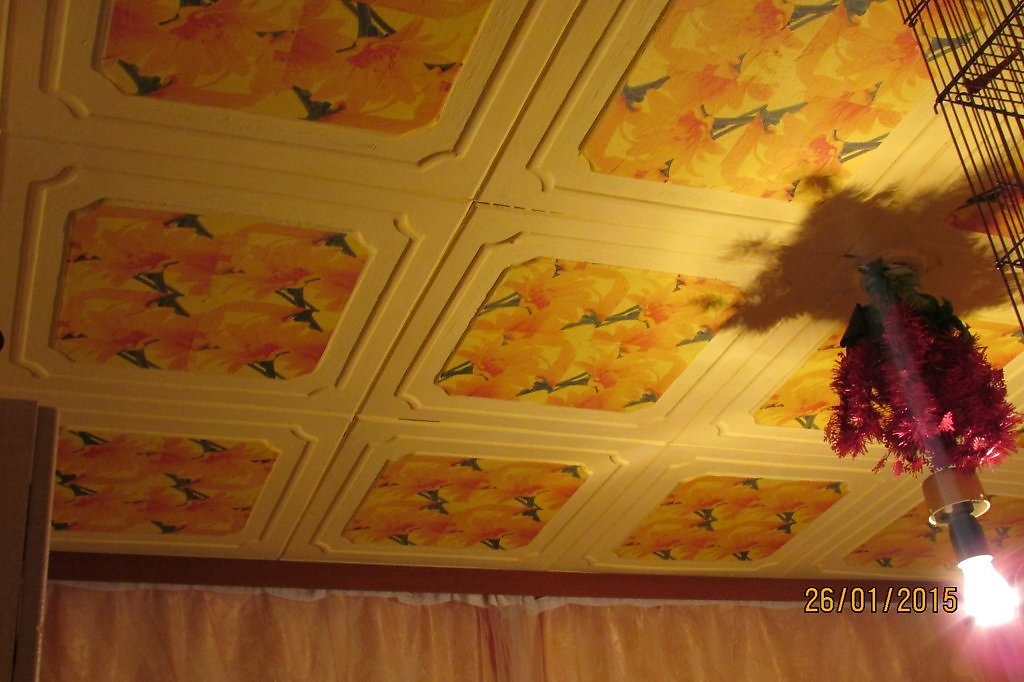 Декупаж на потолке своими руками фото 8