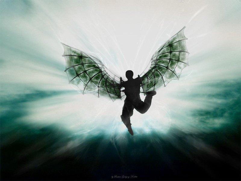 летающий человек с крыльями картинки вооружайтесь мобильным