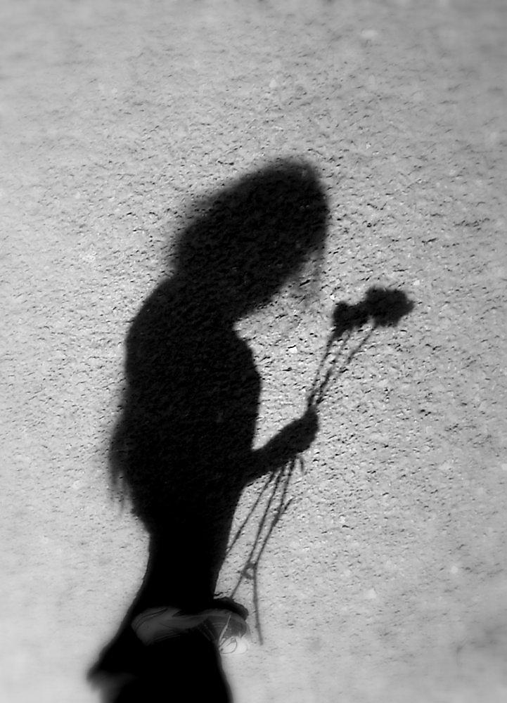 Тень от девушки картинки