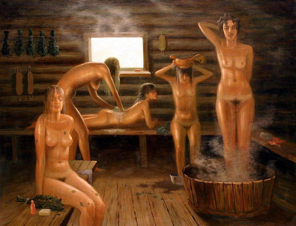 Голые мужчины в бане банщица видео