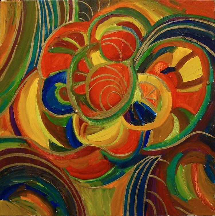 Цвет и композиция открытки