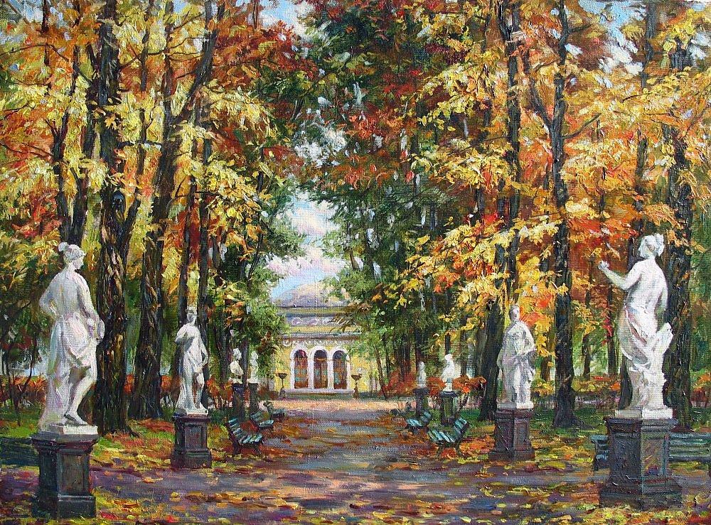 летний сад фото осенью