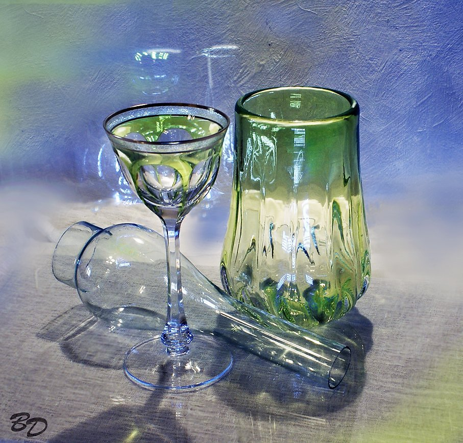 стакан акварелью фото