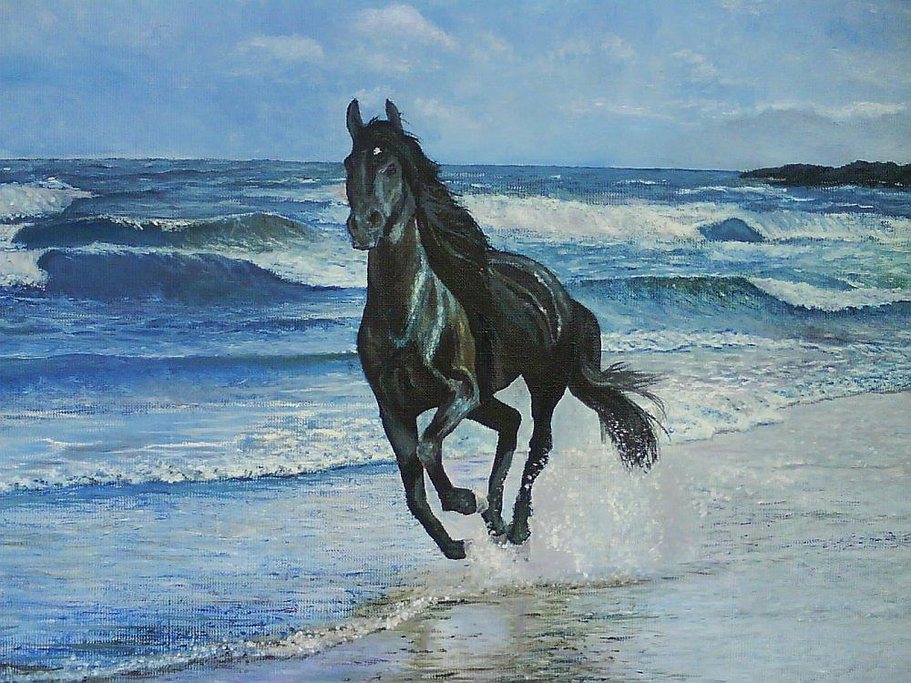 это лошадь бегущая по волнам картинка других комнатах вполне