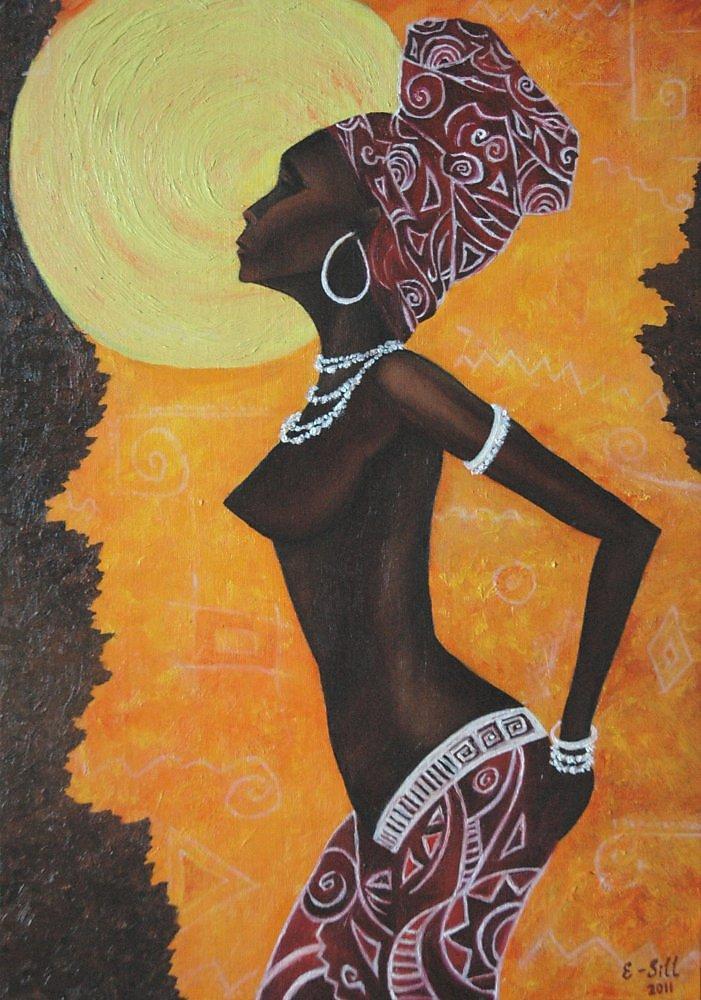 Картина африканская девушка