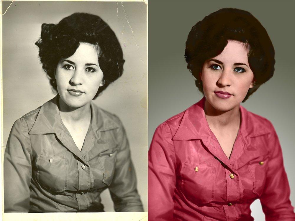 как восстановить цвет на черно белом фото высыпания могут