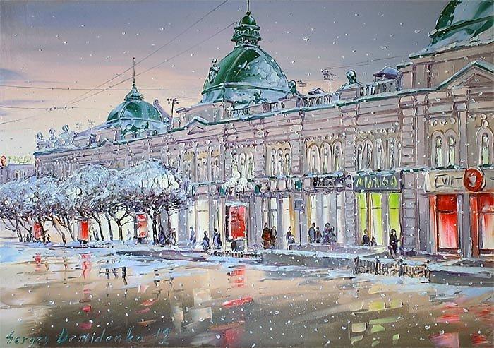 Рисунок улиц города омска