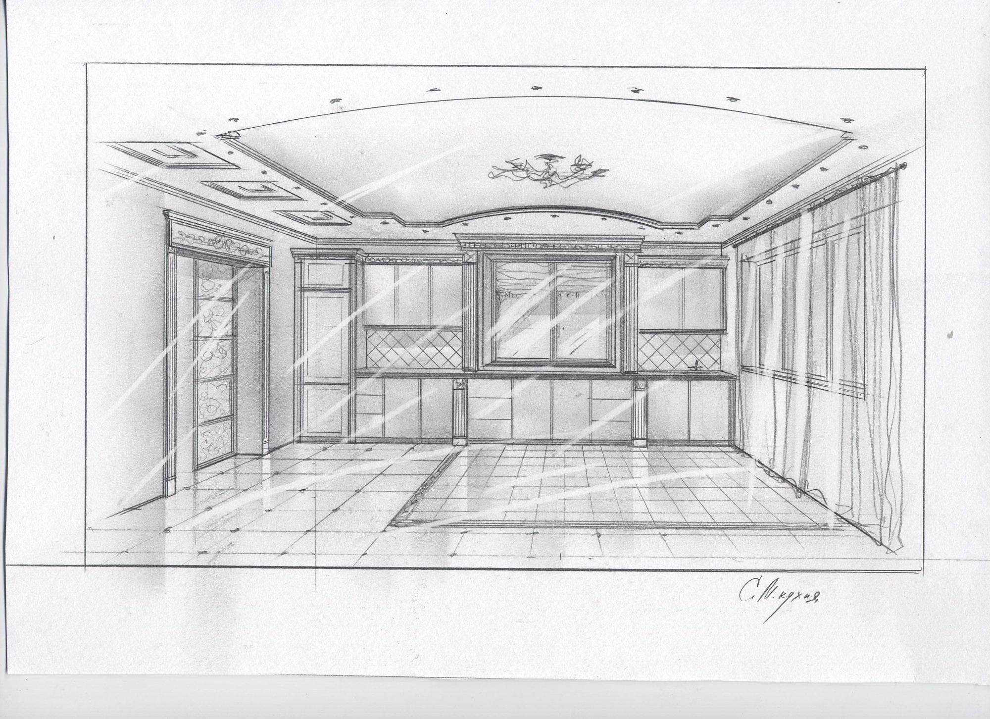 рисунок дом внутри карандашом поэтапно для начинающих намекнул, что любитель