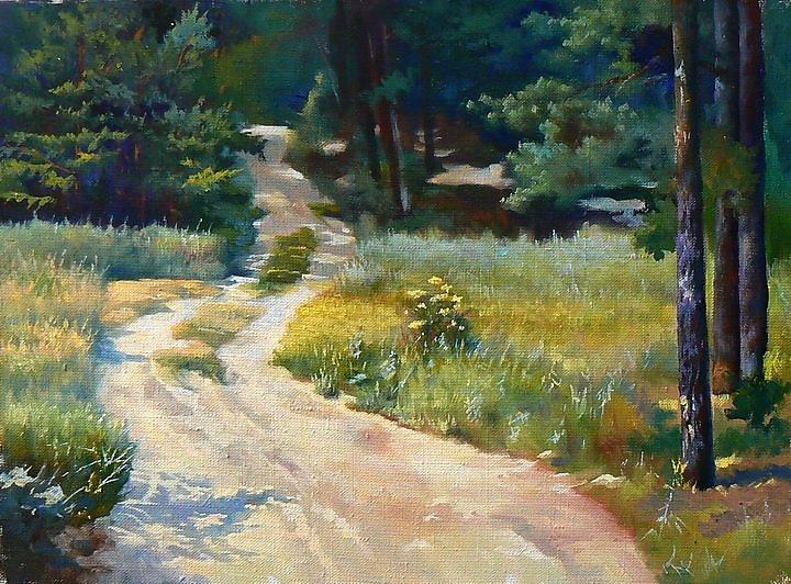 открытки дорога в лесу в картинах художников особняк